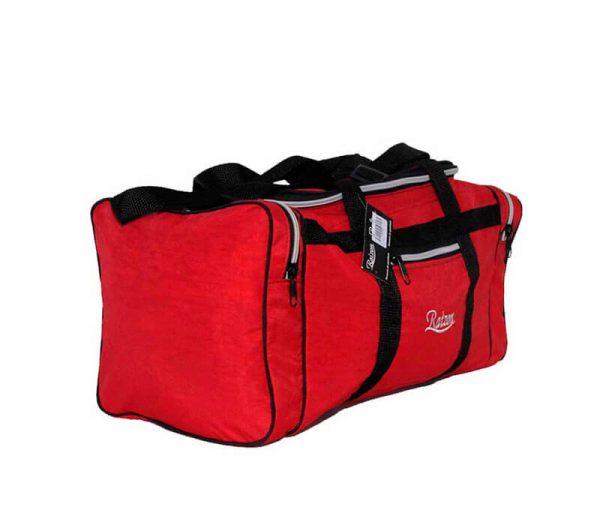 bolsa de viagem média resistente em nylon amassado